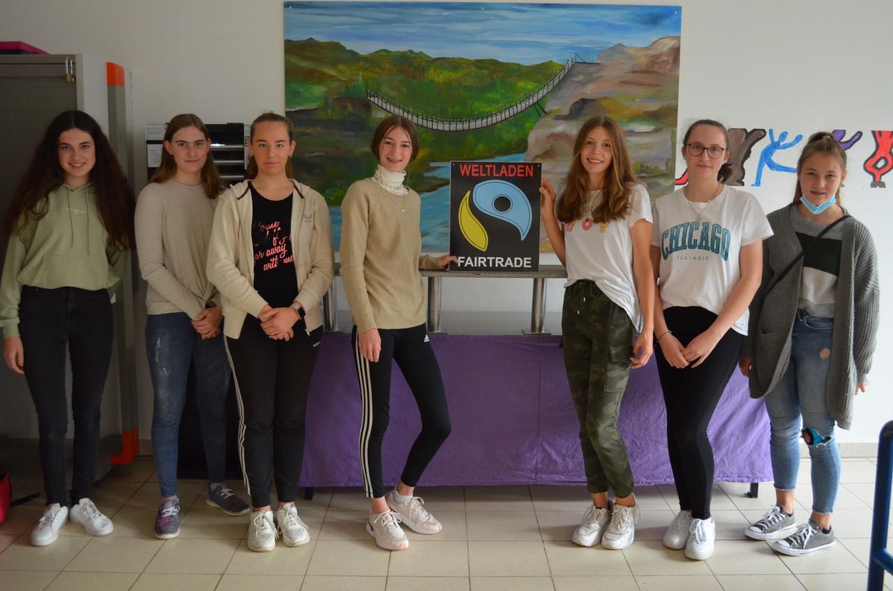 Das Fairtrade-Team an unserer Schule